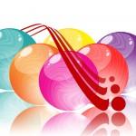 gekleurde ballen